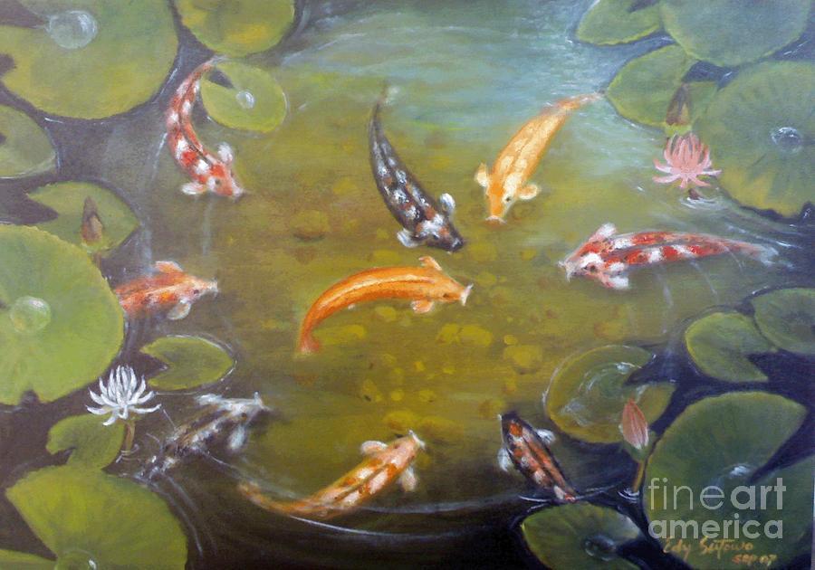 Koi Painting - Koi 2 by Edy Sutowo