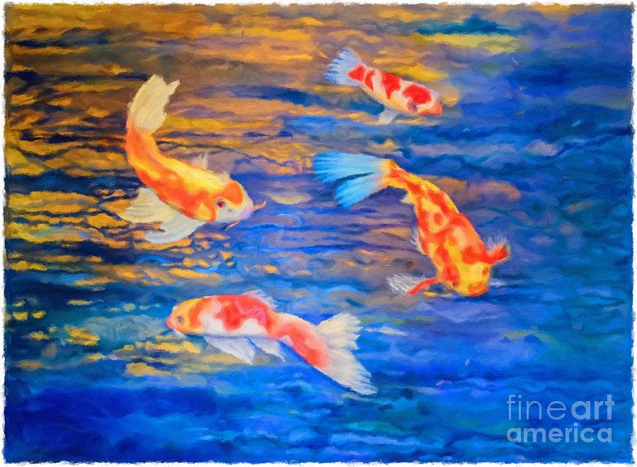 Koi at Play by Teri Brown