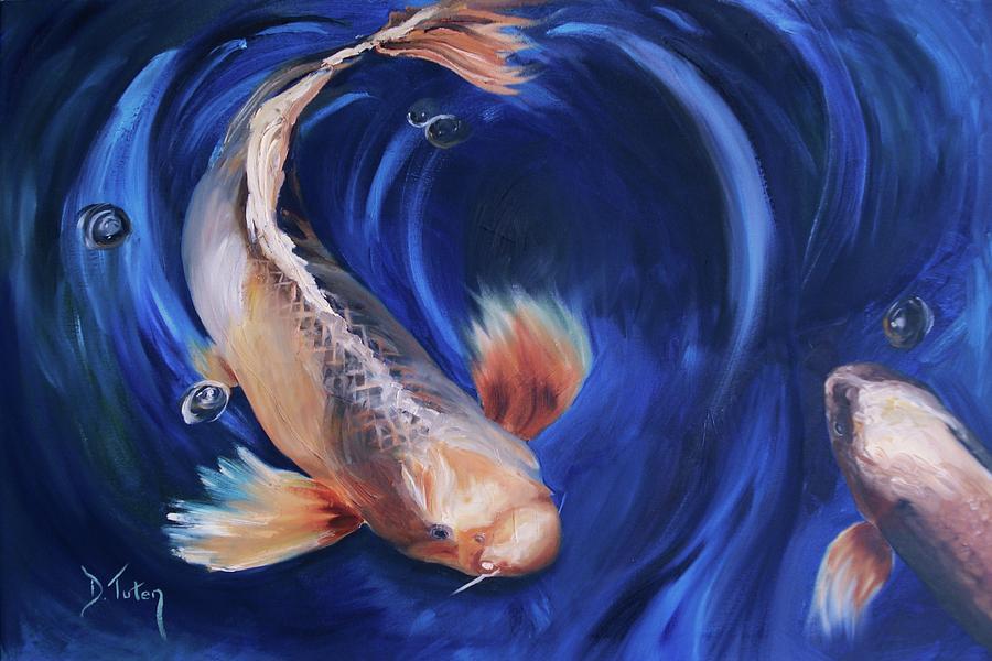 Koi Painting - Koi by Donna Tuten