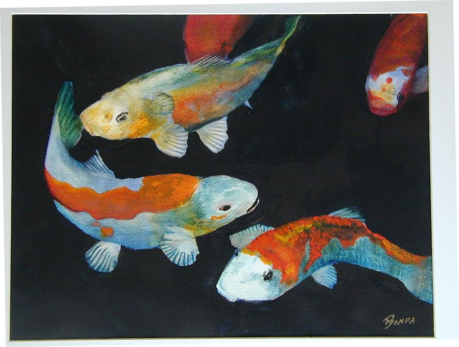 Fish Painting - Koi by Dwight Williams