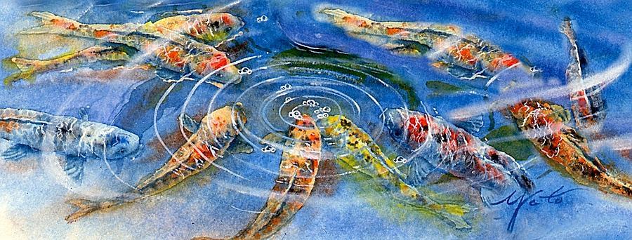 Great Koi Painting - Koi Endurance by John YATO