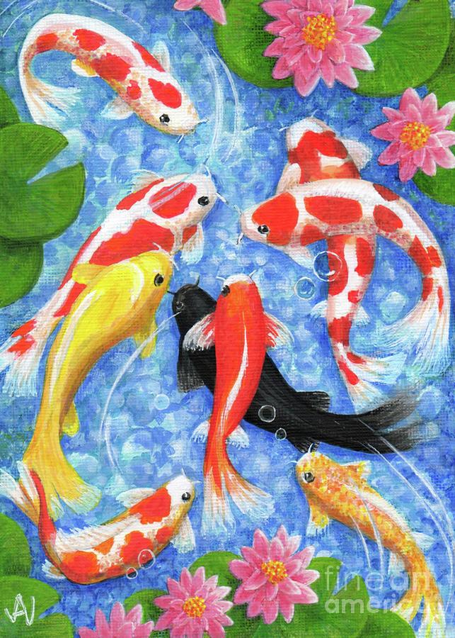 Koi Painting - Koi Fish by Julia Underwood