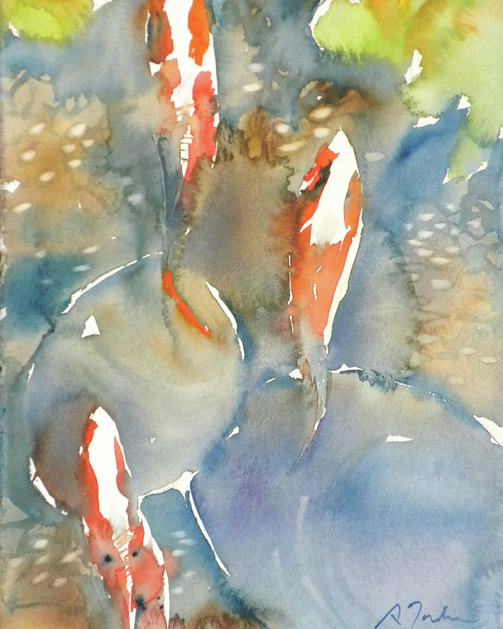 Koi fish no.9 24x30 by Sumiyo Toribe