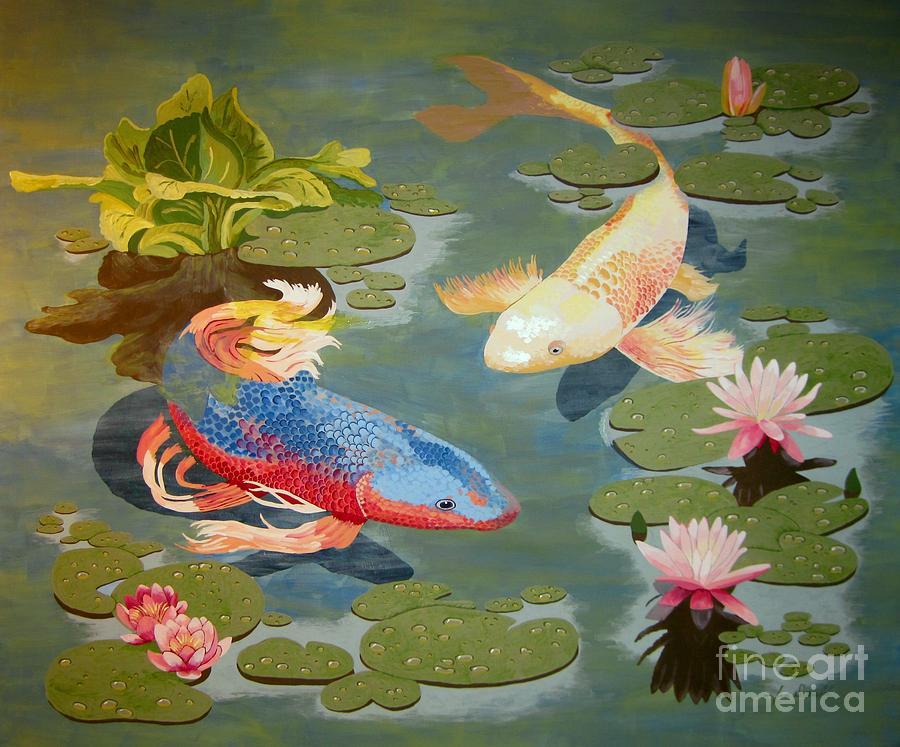 Koi Painting - Koi II by Jennifer  Donald
