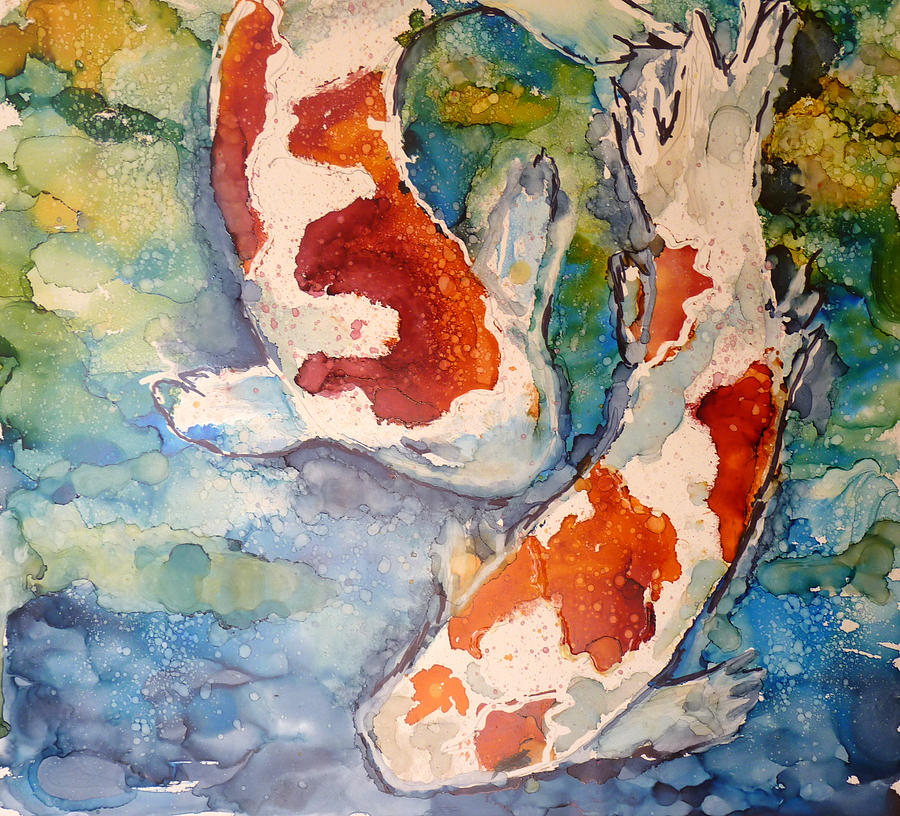 Koi Fish Painting - Koi In Alcohol by P Maure Bausch