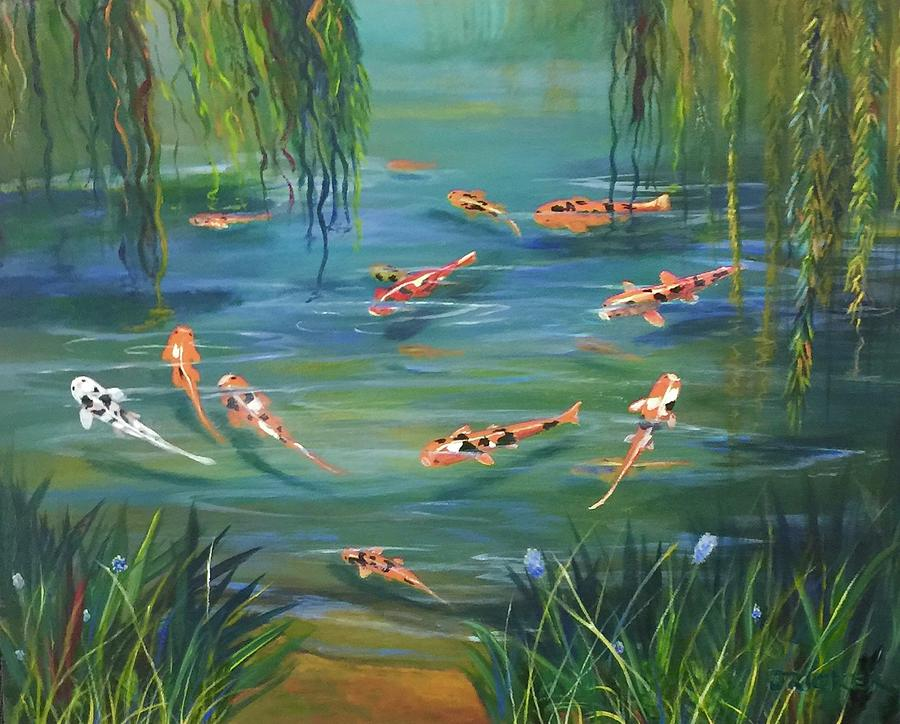 Koi In The  Willows by Jane Ricker