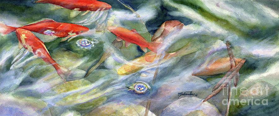 Koi painting by malanda warner for Koi fish pond kelowna
