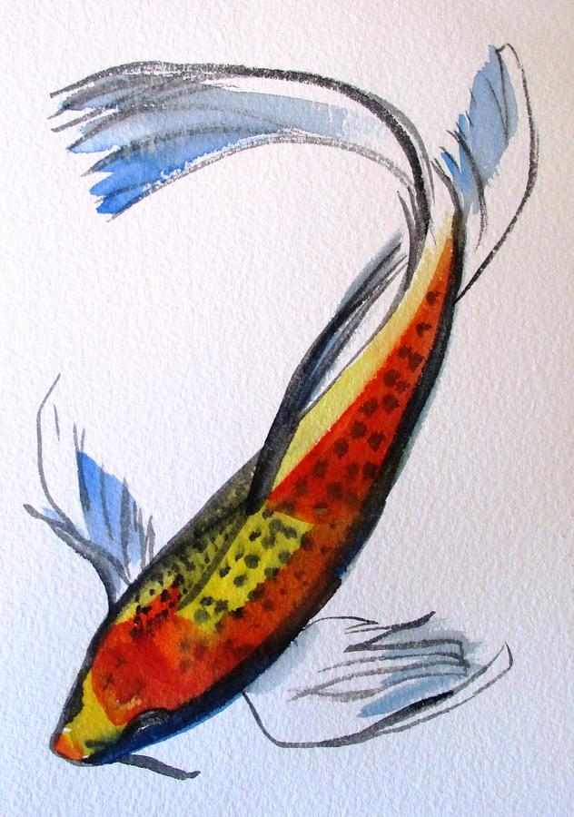 Koi Painting - Koi Part Two by Sacha Grossel