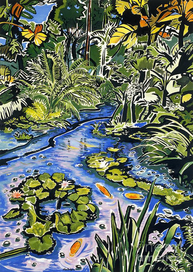 Artwork Painting - Koi Pond by Fay Biegun - Printscapes