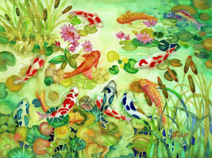 Koi Pond II by Ann Nicholson