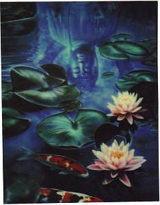 Koi Painting - Koi Pond by Terry Lamb