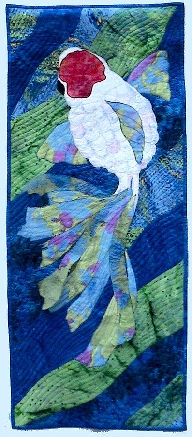Koi Serenity Tapestry - Textile by Dolores Fegan