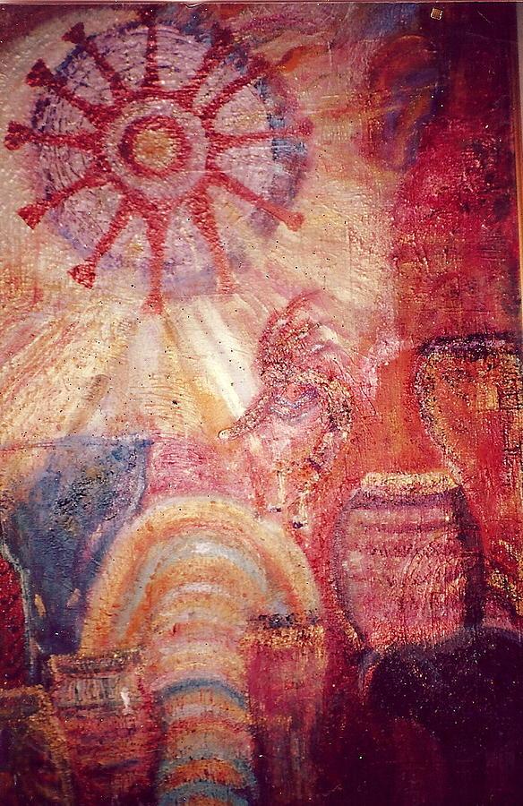 Kokopelli Extravaganza Painting by Anne-Elizabeth Whiteway