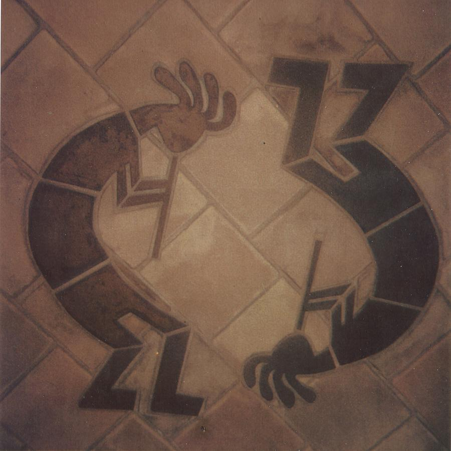 Tile Relief - kokopelli Hand cut Tiles by Patrick Trotter