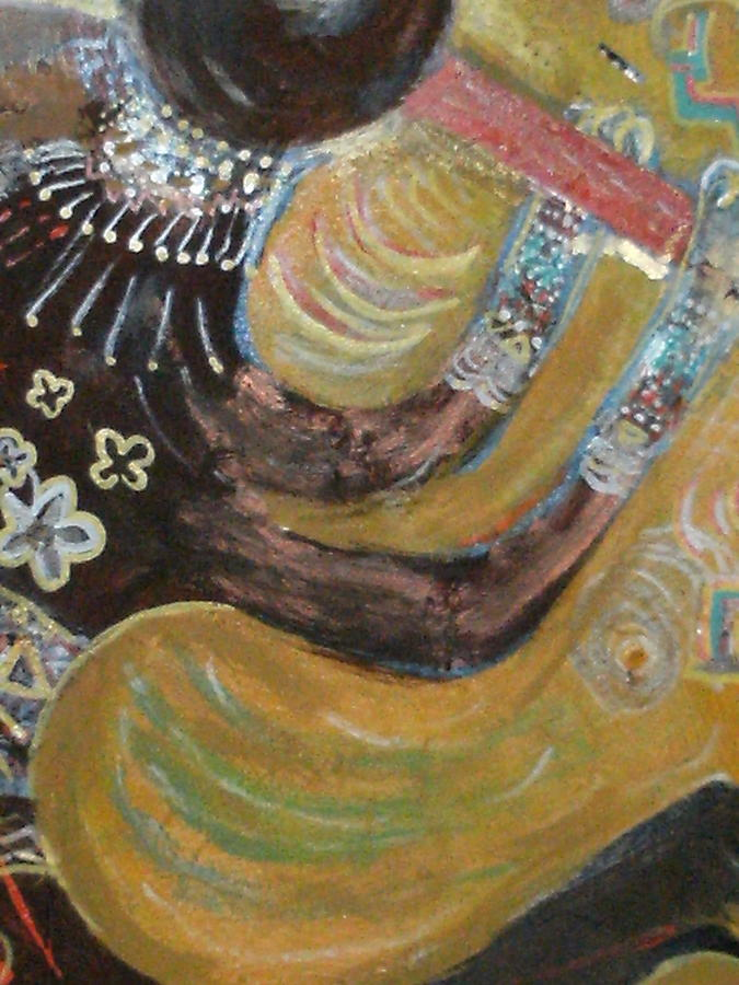 Kokopelli Painting - Kokopelli Just A Closer View by Anne-Elizabeth Whiteway