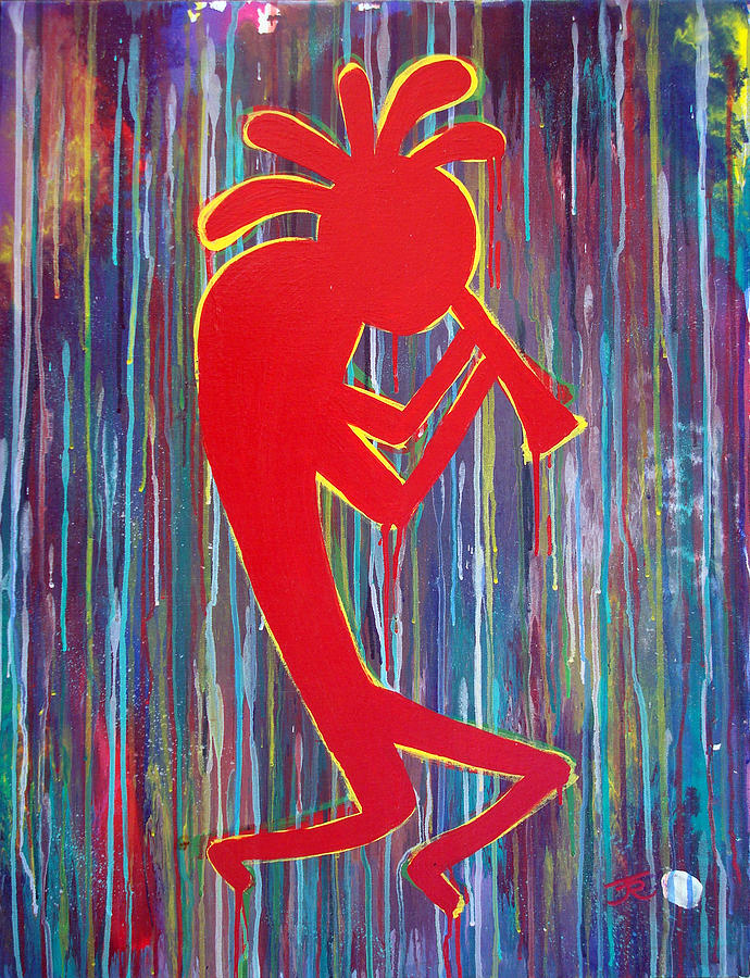 Kokopelli Painting - Kokopelli  by Tommy Reynolds