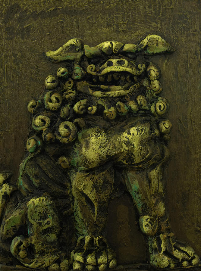 Painting Painting - Komainu Guardian by Erik Pearson