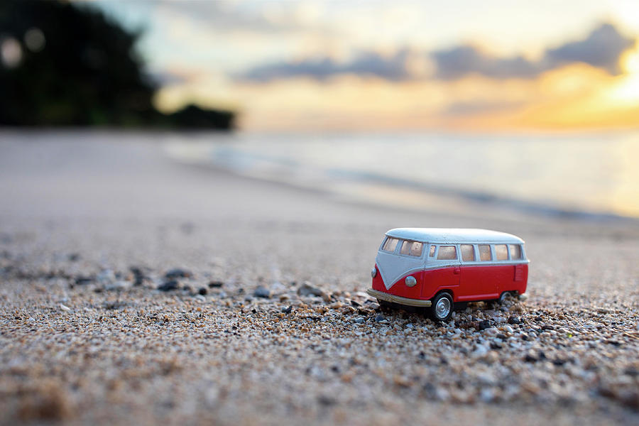 Sunrise Photograph - Kombi Beach by Sean Davey