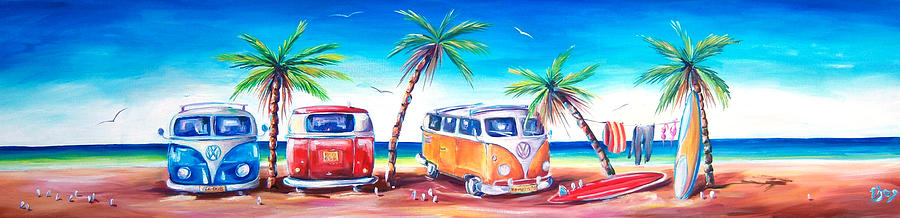Kombi Painting - Kombi Club by Deb Broughton