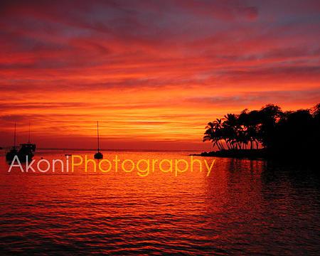 Kona Photograph - Kona Sunset by Anthony Valadon