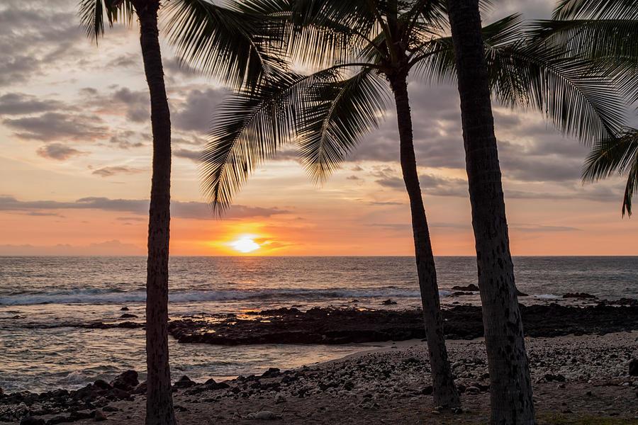 Sunset Photograph - Kona Sunset by Brian Harig