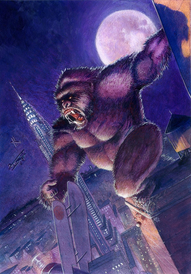 King Kong Painting - Kong by Ken Meyer