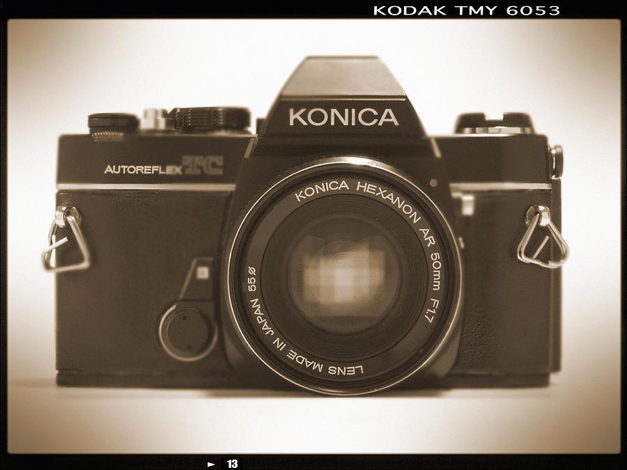 Vintage Film Camera Photograph - Konica Tc 35mm Camera by Mike McGlothlen
