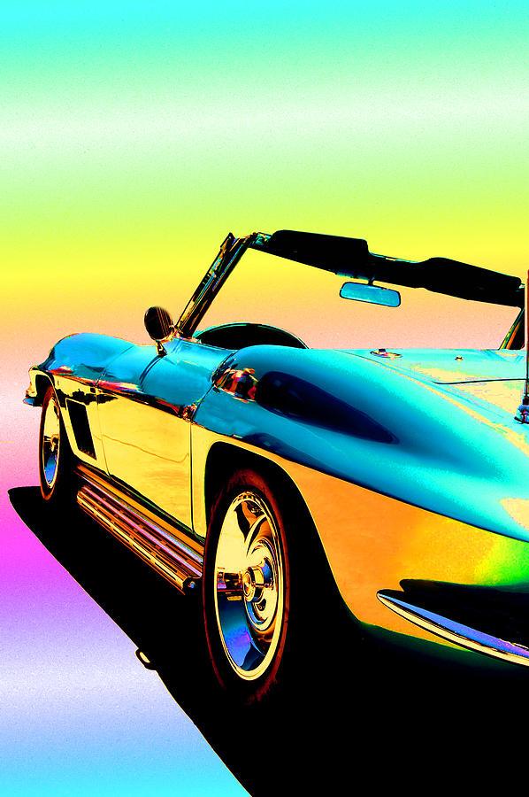 Car Photograph - Kool Corvette by Lynn Andrews