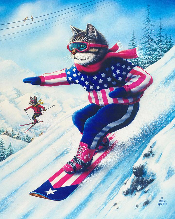 как появился картинки котята на лыжах штраф