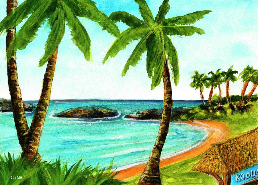 Hawaii Seascape Painting - Koolina Lagoon Oahu, Hawaii #343 by Donald k Hall