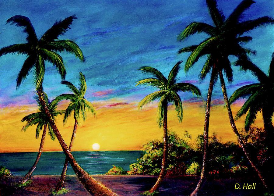 Sunset Painting - Koolina Sunset On The West Side Of Oahu Hawaii #299 by Donald k Hall