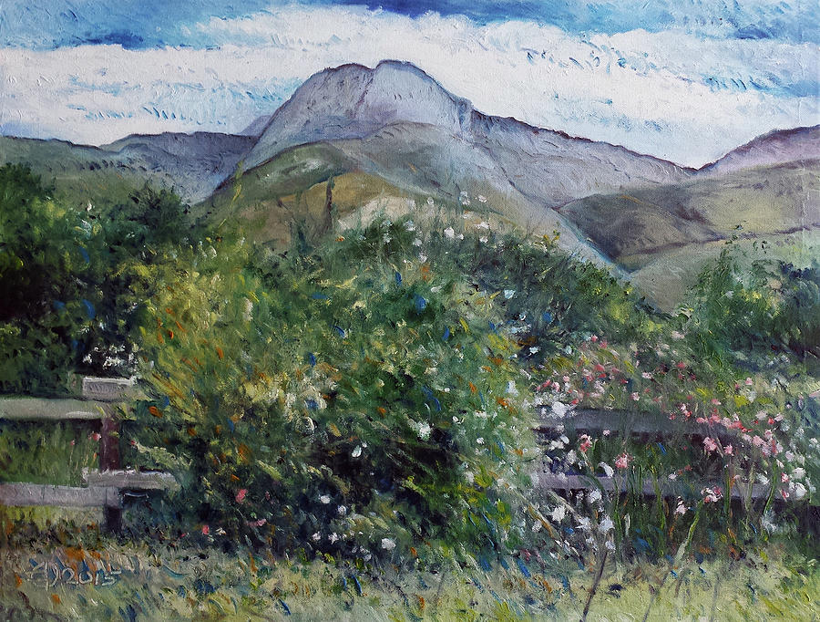 Impressionism Painting - Kopberg Heidelberg Western Cape South Africa by Enver Larney