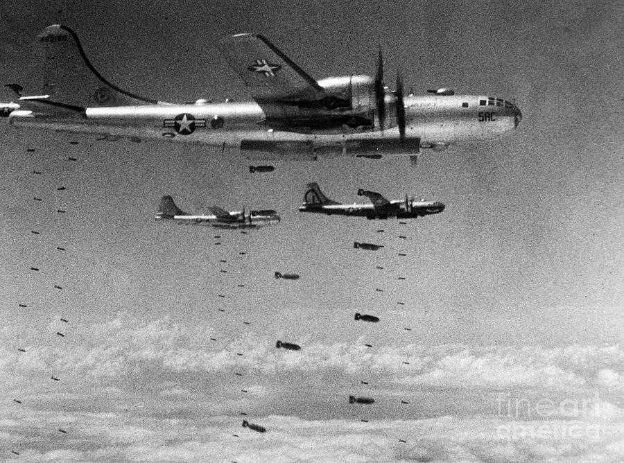 1951 Photograph - Korean War: B-29 Bombers by Granger