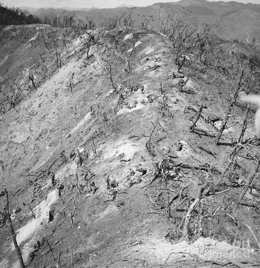 1951 Photograph - Korean War: Bloody Ridge by Granger