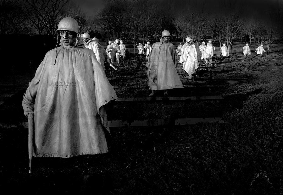 Washington Dc Photograph - Korean War Memorial by Williams-Cairns Photography LLC