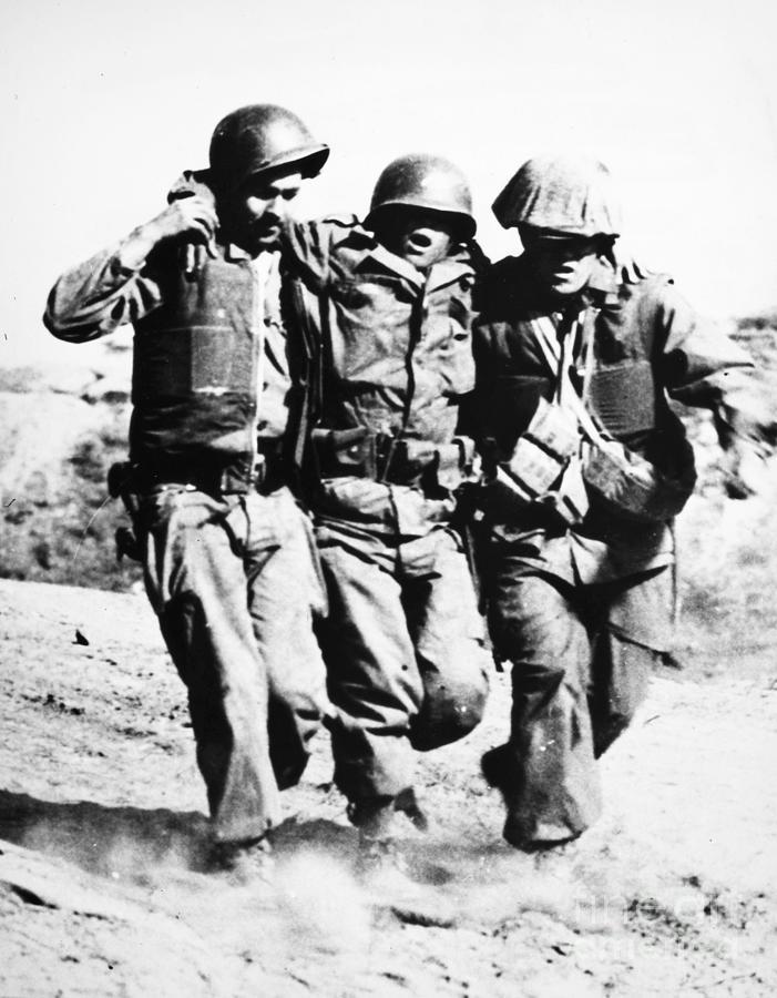 1953 Photograph - Korean War Pork Chop Hill by Granger