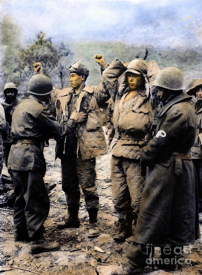 1950 Photograph - Korean War: Prisoners by Granger