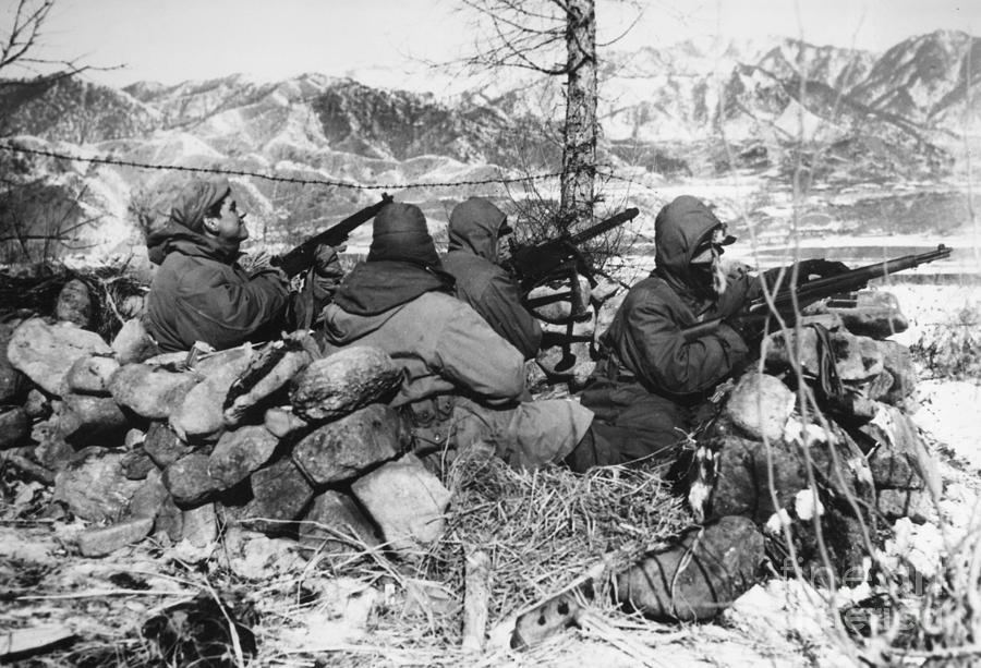 Korean War Soldiers Photograph By Granger