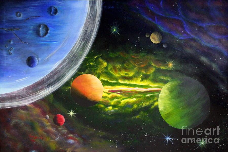 Cosmos Painting - Kosmos by Sebastian Gorynski