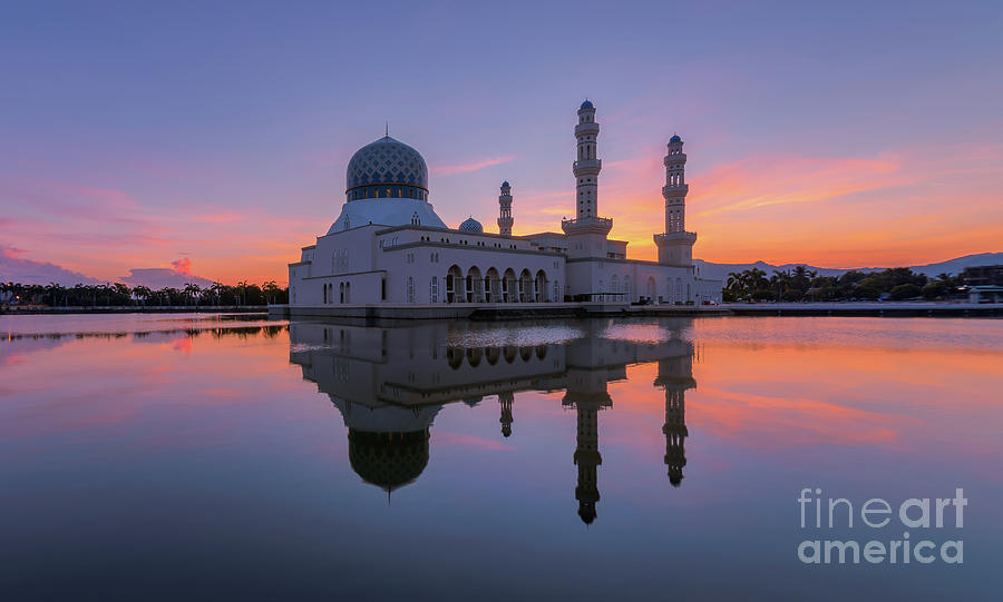 Mosque Photograph - Kota Kinabalu City Mosque I by Kamrul Arifin Mansor