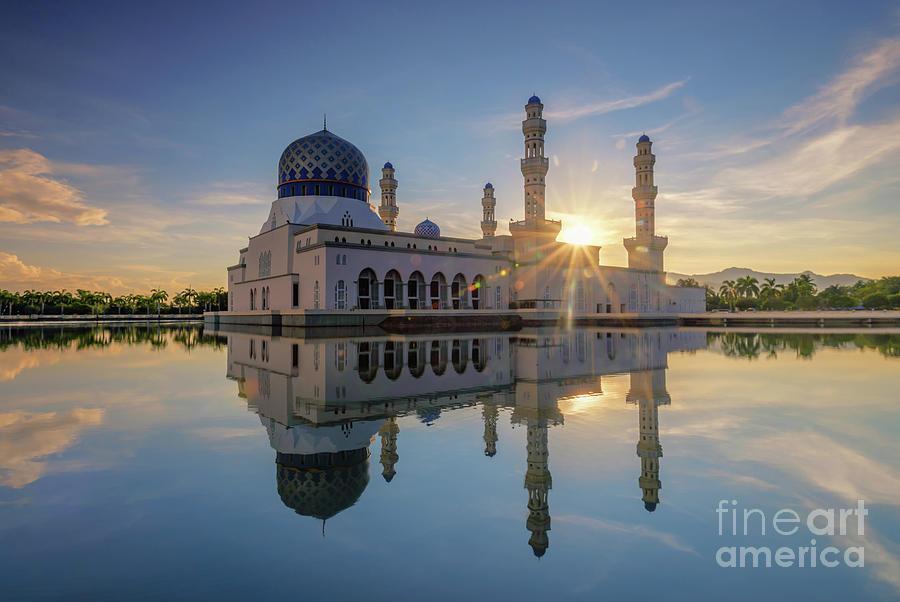 Mosque Photograph - Kota Kinabalu City Mosque II by Kamrul Arifin Mansor