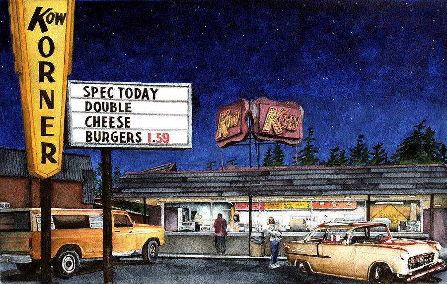 Drive-in Painting - Kow by Perry Woodfin