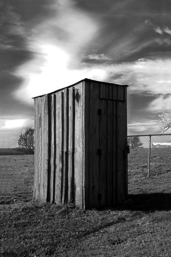 Ansel Adams Photograph - Koyl Cemetery Outhouse by Curtis J Neeley Jr