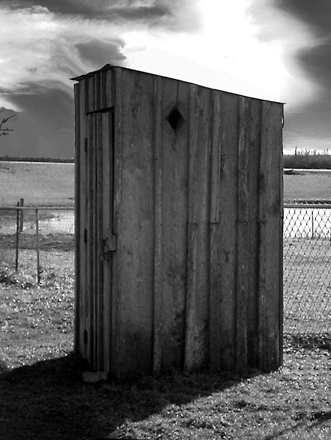 Ansel Adams Photograph - Koyl Cemetery Outhouse5 by Curtis J Neeley Jr