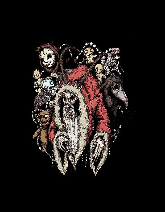 Krampus Christmas Digital Art by Sempu Roberto