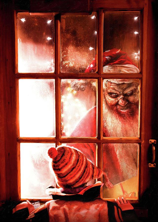 Christmas Painting - Krampus by Joe Roberts