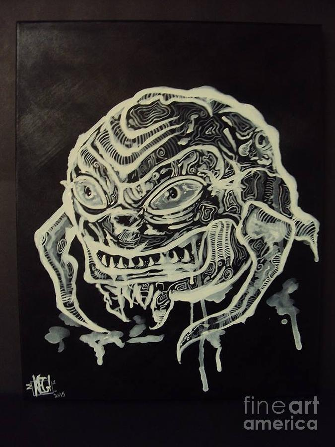 Krang Painting by Kelly Gannon