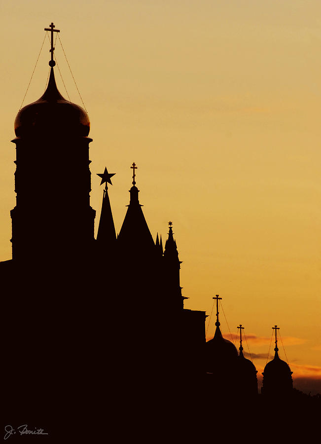 Russia Photograph - Kremlin Dusk by Joe Bonita