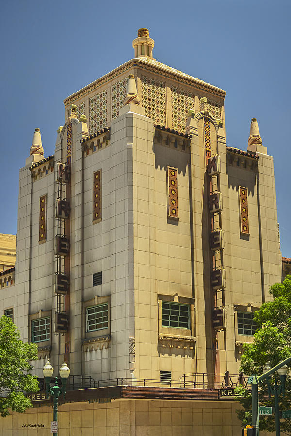 El Paso Photograph - Kress Building by Allen Sheffield