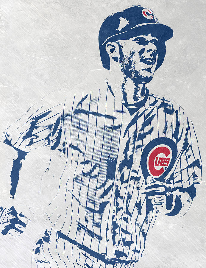 Kris Bryant Mixed Media - kris bryant CHICAGO CUBS PIXEL ART 2 by Joe Hamilton